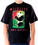 WILDLIFE Panda T-Shirt schwarz
